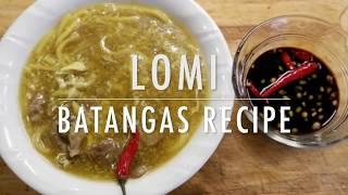 LOMI BATANGAS   EASY RECIPE