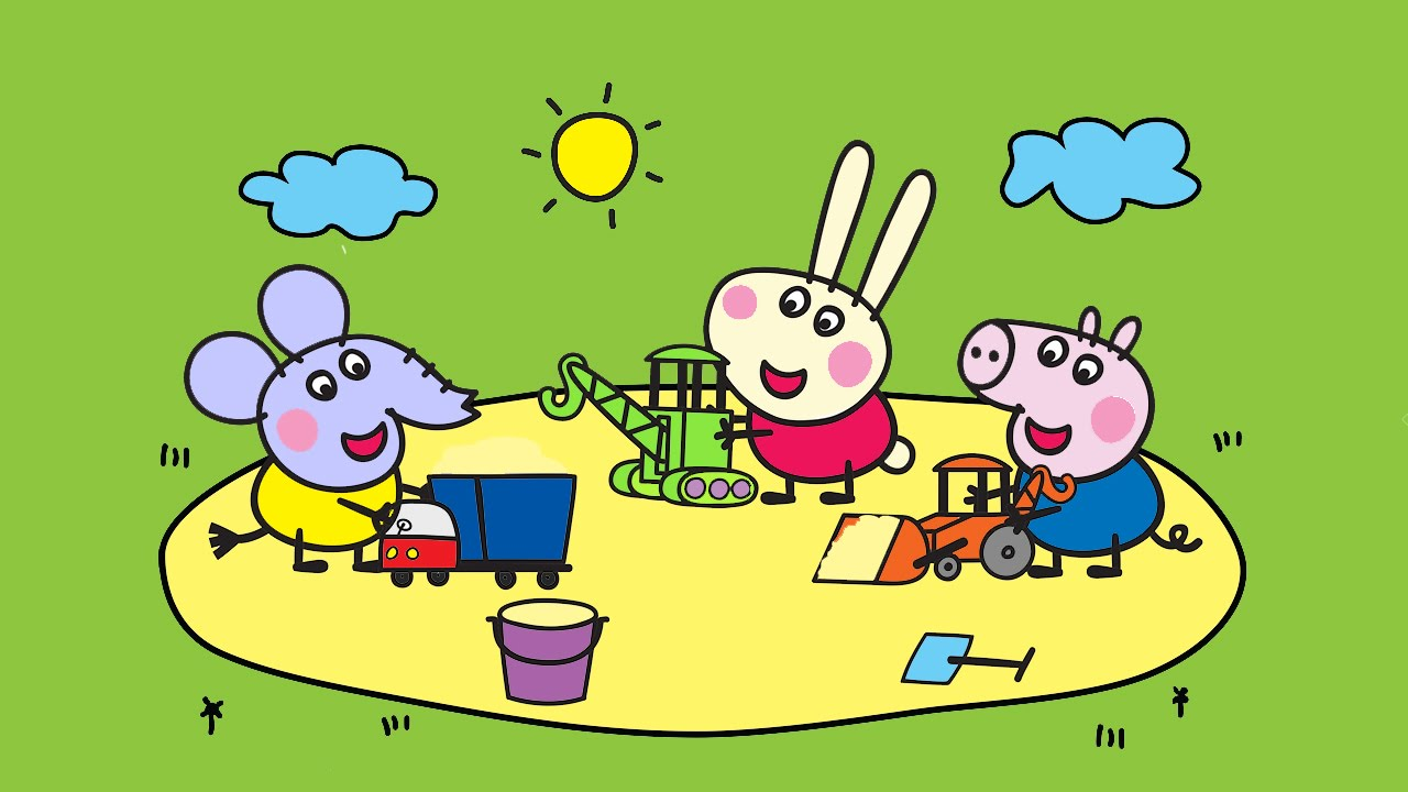 Peppa Pig Coloring Pages For Kids ♥ Peppa Pig Coloring Book ♥ Part ...