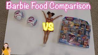 Barbie Sized Food! Shopkins VS ZURU 5 Surprise!   Kelli Maple