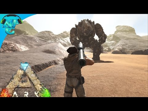 Rocket Launcher Taming a Rock Elemental! ARK Survival Evolved - Scorched Earth E20