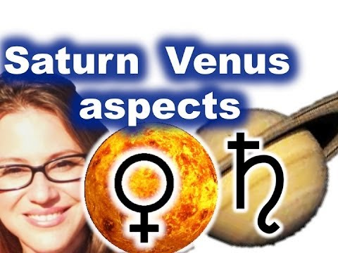 Saturn - Venus Aspects in the Birthchart. Love and Karma in your lifetime!