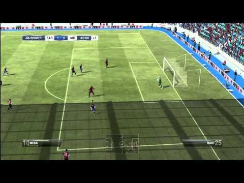 FIFA 12 Match Gameplay Barcelona vs Manchester City [HD]