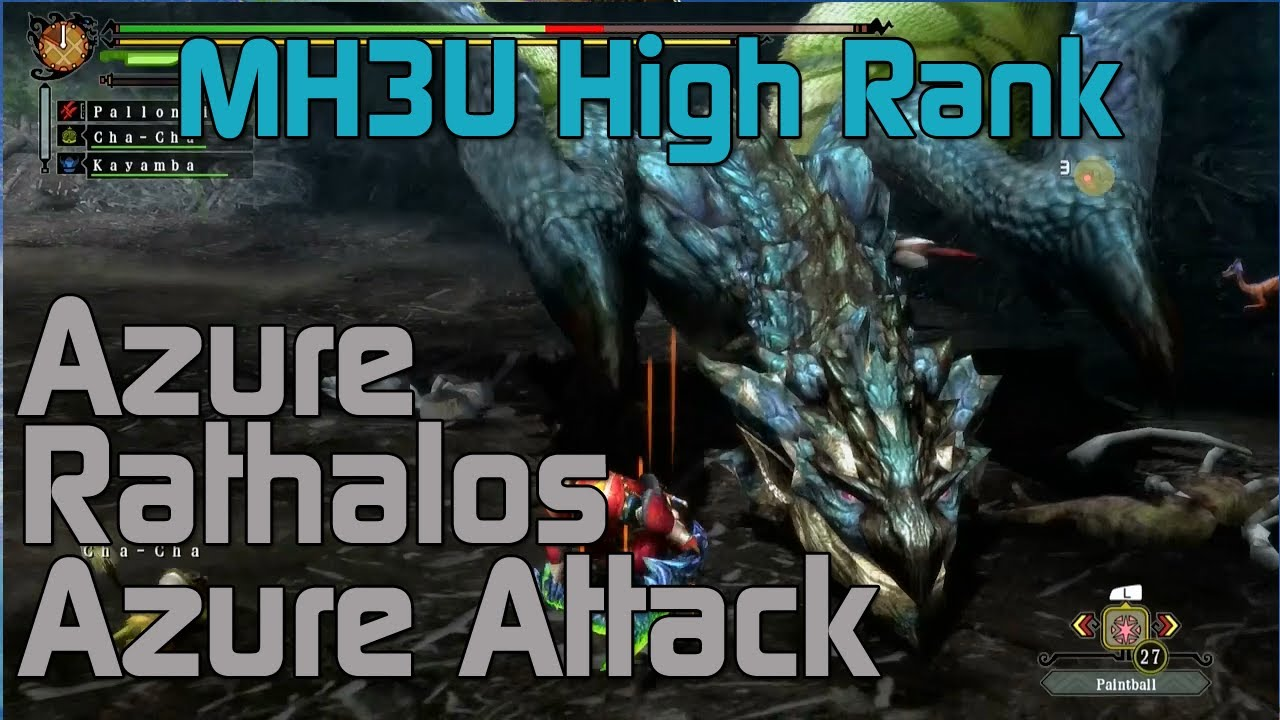 mh3u monster hunter 3 ultimate high rank azure
