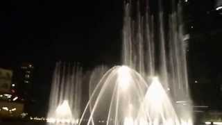 The Dubai Fountain, Burj Khalifa, Dubai on Musical English song. by Sarvesh.