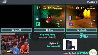 Awesome Games Done Quick 2015 - Part 4 - Diddy Kong Racing by Toufool, 0xwas, JoeDamillio