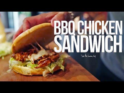 Quick BBQ Chicken Sandwich   SAM THE COOKING GUY