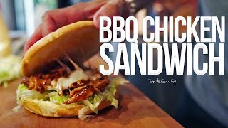 Best Quick BBQ Chicken Sandwich | SAM THE COOKING GUY