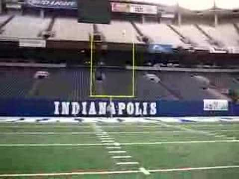 My 35 yard field goal in the RCA dome