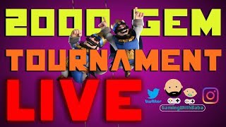 2000 Gem Tournament With Golem Beatdown. Grand Challenge Games Untill Tournament! - Clash Royale