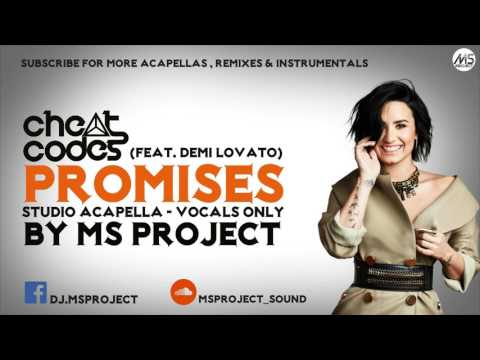 Cheat Codes ft. Demi Lovato - No Promises (Studio Acapella - Vocals Only)