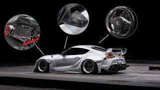 2020 SUPRA CARBON FIBER OVERLOAD! (Carbon Steering Wheel + more!)