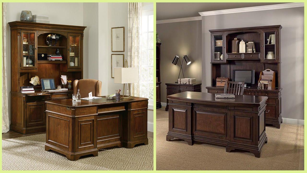 - 100+ Wooden Office Desk Designs II Office Table Ideas - YouTube
