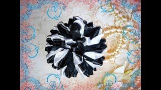 Цветы из лент канзаши. Как сделать красивые цветы из лент. Канзаши.