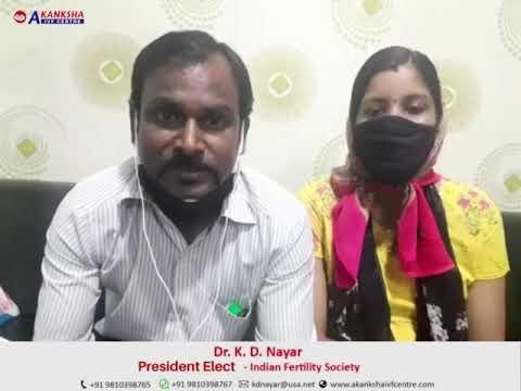 Santosh Kumar S/O Kalpana Kumari Review after blessed with a Baby -Akanksha IVF Centre, Dr. KD Nayar