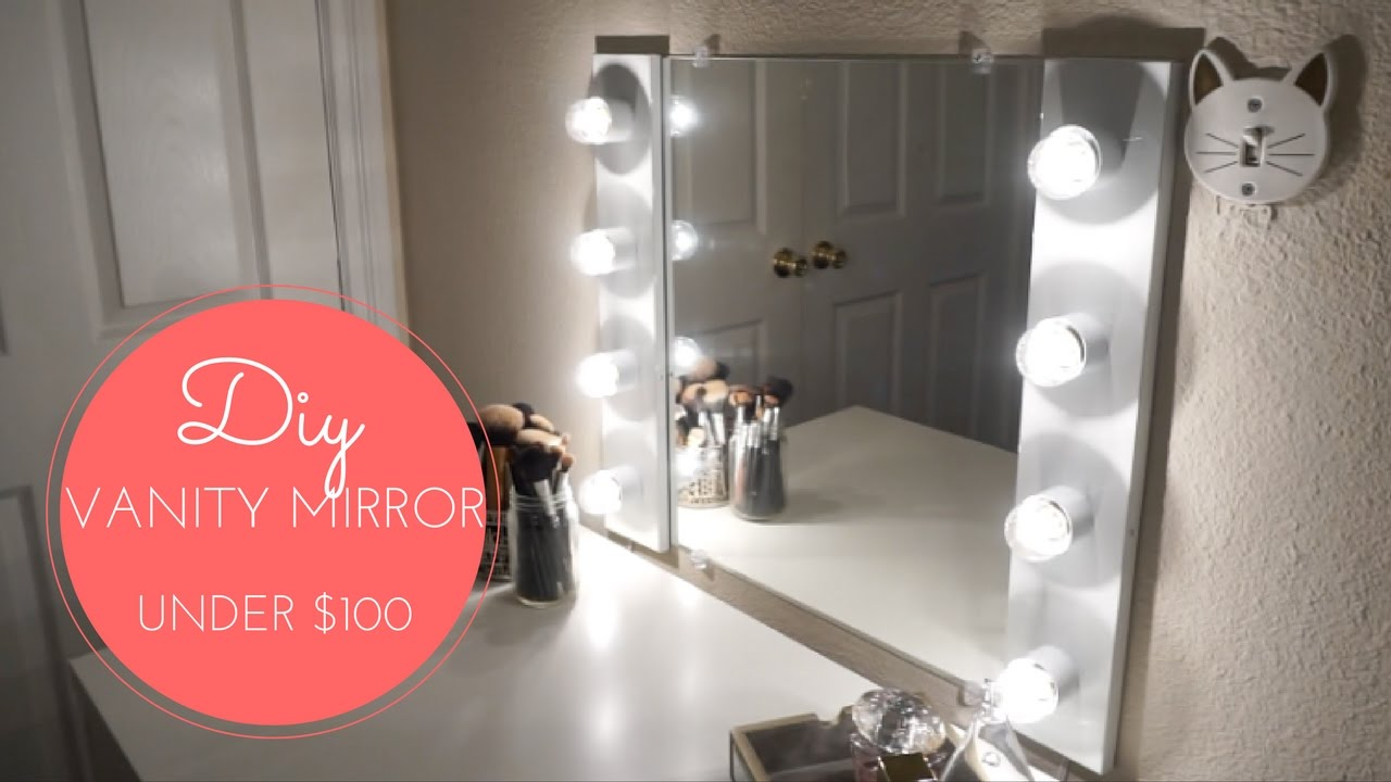 Diy Vanity Mirror W Lights Youtube