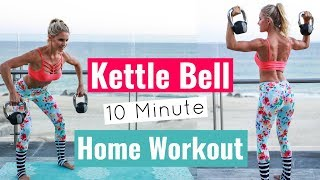 Full Body Kettlebell Workout - TRAIN AND TONE MUSCLES | Rebecca Louise
