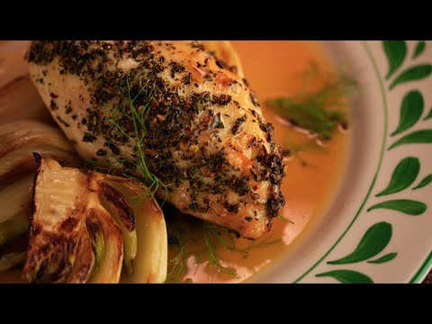 Italian Roast Chicken with Fennel