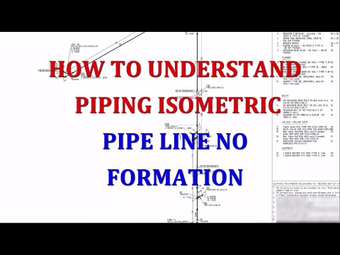 Piping line number formation in isometric drawing