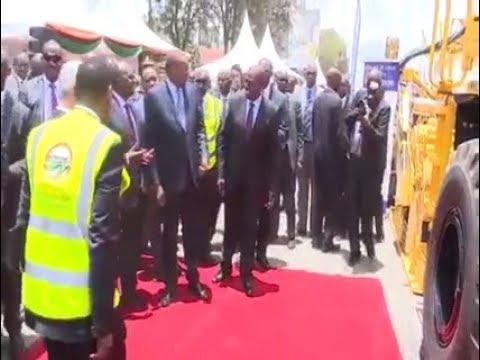 UHURU KENYATTA launches DUALLING of Ngong Road. #Ngongroad