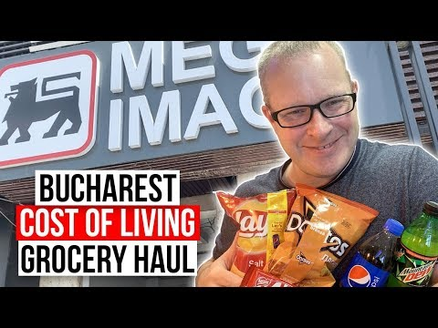 Bucharest, Romania Cost of Living Grocery Store Haul