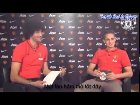 [Vietsub] Marouane Fellaini and Adnan Januzaj interview each other Q&A