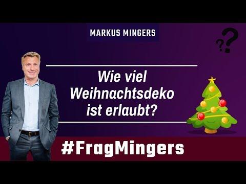 Wie viel Weihnachtsdeko ist erlaubt? | #FragMingers