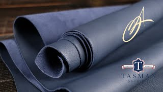 Tasman Leather - Milled Navy 4-5oz