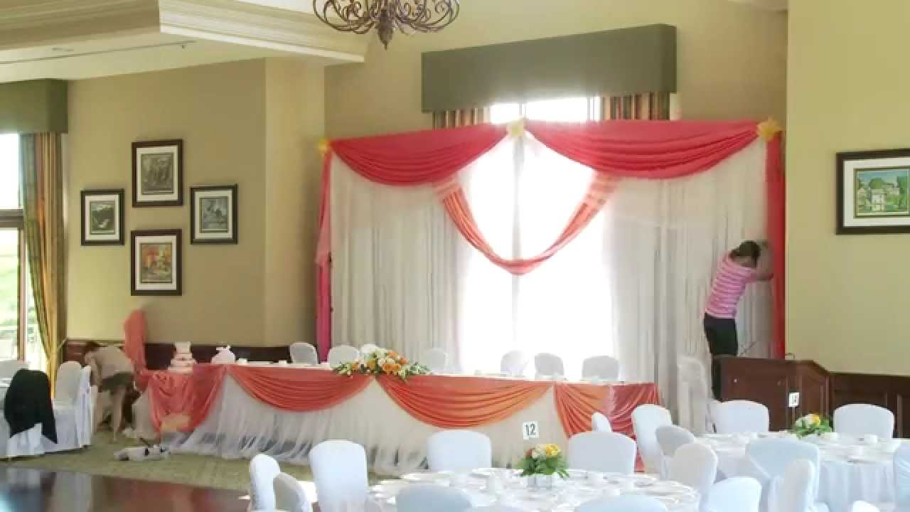 how to set up a gta wedding backdrop decor toronto youtube. Black Bedroom Furniture Sets. Home Design Ideas