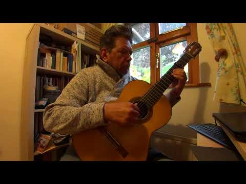 Greensleaves an Irish Tune, real name is Green Leves, played by Angel Lejarza on the Spanish guitar.