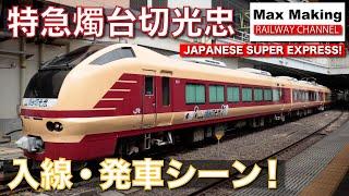 【HD】特急燭台切光忠 Japanese Super Express Train SHOKUDAIKIRIMITSUTADA! E653系国鉄特急色 仙台駅 入線・発車シーン! Max Making