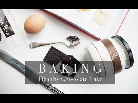 HEALTHY CHOCOLATE CAKE RECIPE | Lydia Elise Millen