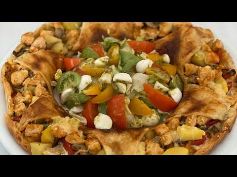 couronne-feuilletée-au-poulet-et-aux-légumes