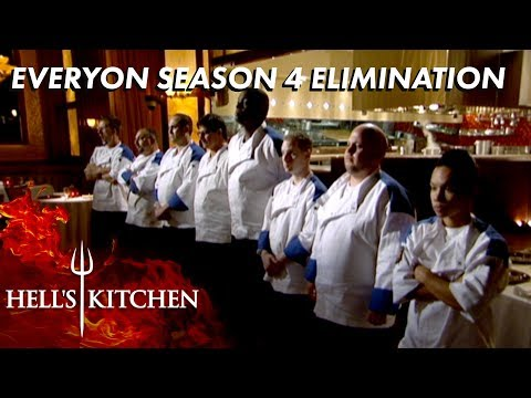 Every Season 4 Elimination On Hell's Kitchen