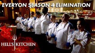 Every Season 4 Elimination On Hell S Kitchen Youtube
