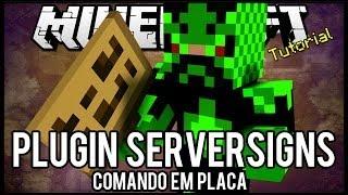 [Tutorial]ServerSigns - Comando em Placa Minecraft