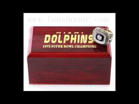 Custom NFL 1972 Super Bowl VII Miami Dolphins Championship Ring