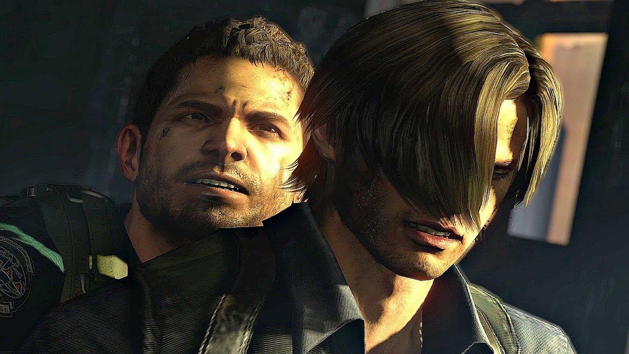 Resident Evil 6 Chris Vs Leon Fight Cutscene 4k 60fps Youtube