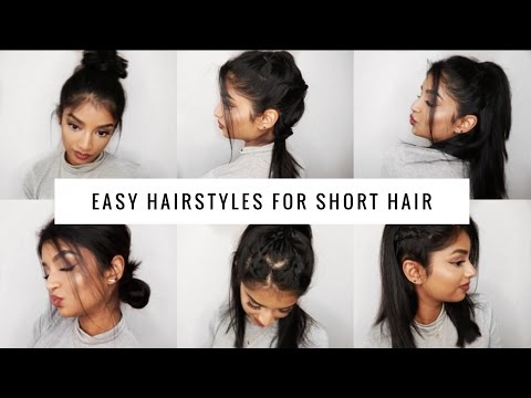 QUICK & EASY Hairstyles for SHORT/MEDIUM HAIR | Long Bob