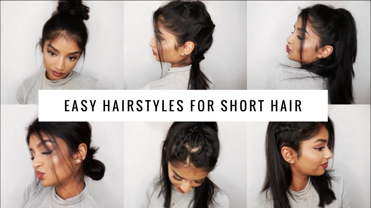 QUICK & EASY Hairstyles for SHORT/MEDIUM HAIR | Long Bob - YouTube