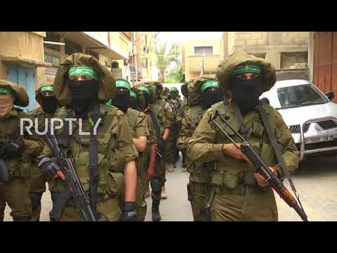 State of Palestine: Thousands attend funeral of Hamas soldiers in Gaza Strip
