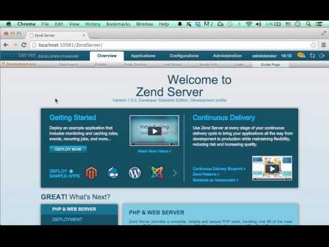 Zend Server Control Panel