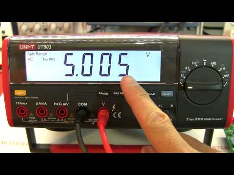 Review: UNI-T UT803 TRMS bench multimeter with PC data logging