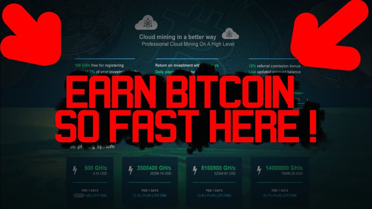 EASY THOUSANDS SATOSHI AND FAST EARNING BITCOIN MINING ! TUTORIAL & 100  GH/s FREE !!!