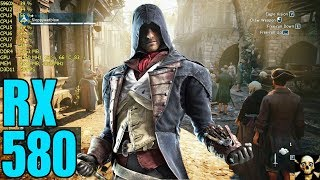 Assassins Creed Unity Radeon RX 580   Frame Performance  1080P