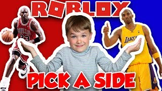 PICK A SIDE IN ROBLOX | WOULD YOU RATHER PLAY 1 ON 1 WITH MICHAEL JORDAN OR KOBE BRYANT