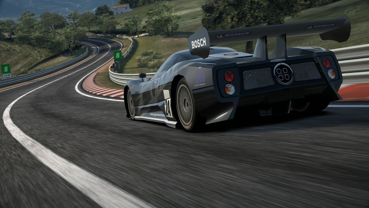 Zonda LM Race Car Circuito De La Sierra GT6 - YouTube