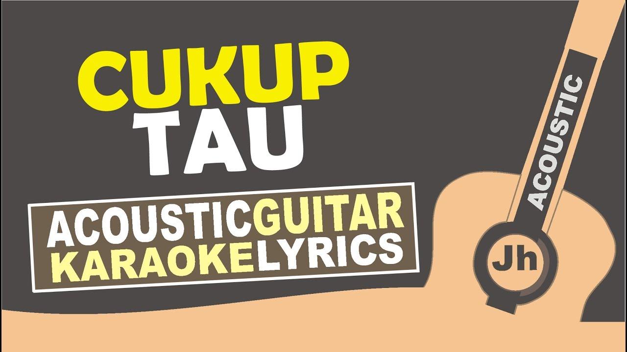 Rizky Febian - Cukup Tau (Karaoke Acoustic) - YouTube