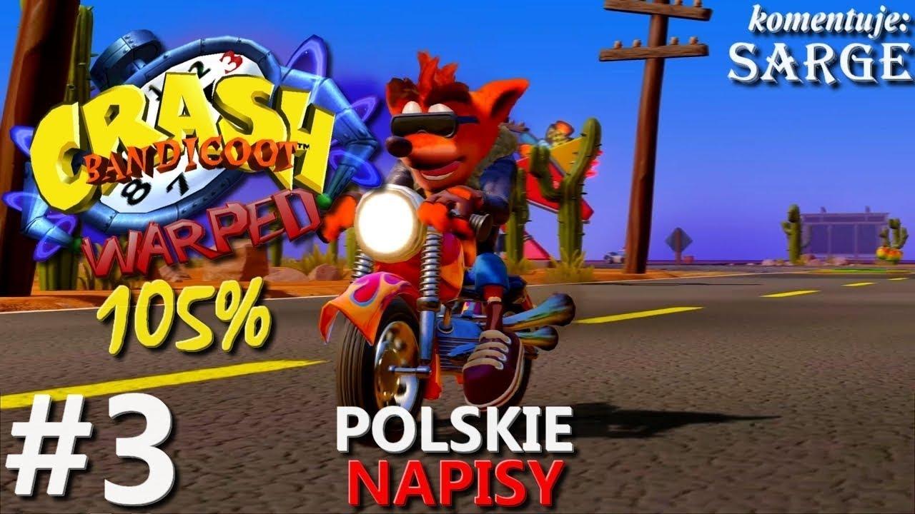 Zagrajmy w Crash Bandicoot 3 PS4 Remake (105%) odc. 3 – Kolorowy klejnot | napisy PL | 1440p