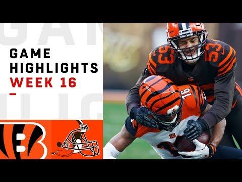 Bengals vs. Browns Week 16 Highlights | NFL 2018