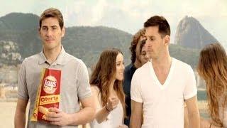 Messi y Casillas, juntos en el anuncio de Lay